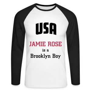 T-shirt manches longues Jamie Rose is a Brooklyn Boy - Men's Long Sleeve Baseball T-Shirt