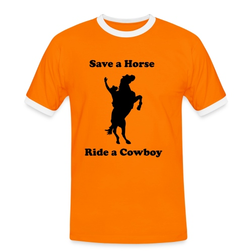 cowboy shirt. Thematic - Men's Ringer Shirt