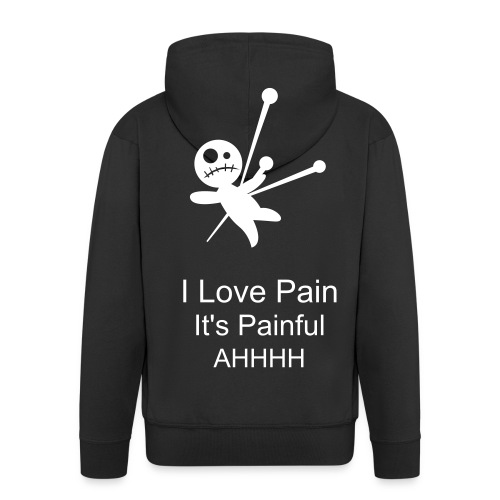Pain Jacket With Zip (in Black) - Men's Premium Hooded Jacket