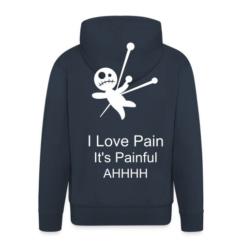 Pain Jacket With Zip (in Navy) - Men's Premium Hooded Jacket