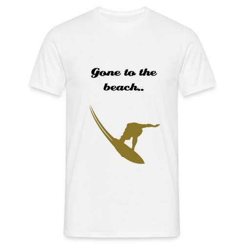 man gone to the beach - Mannen T-shirt
