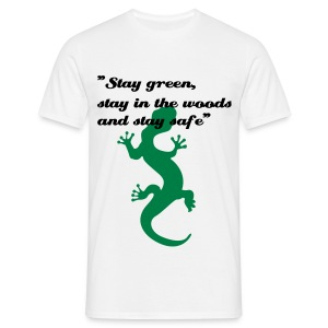Cameleon Stay green, stay in the woods and stay safe - Karl Pilkington - Men's T-Shirt