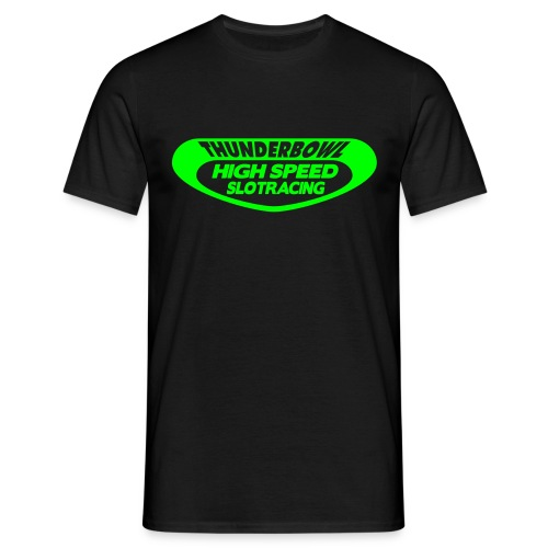 Thunderbowl - Shirt: schwarz; Druck: neongrün - Männer T-Shirt
