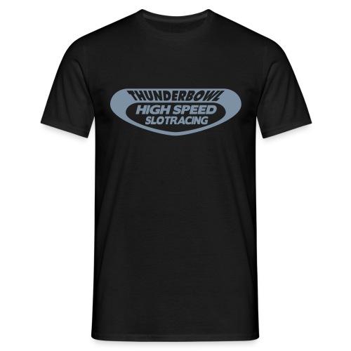 Thunderbowl - Shirt: schwarz; Druck: silber-matt - Männer T-Shirt