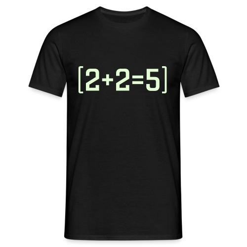 2+2=5 - Click to change colour - Men's T-Shirt