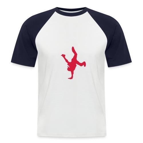 breakdance - white/red - Men's Baseball T-Shirt