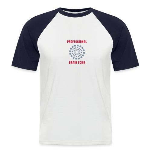 Brain fckr - Mannen baseballshirt korte mouw