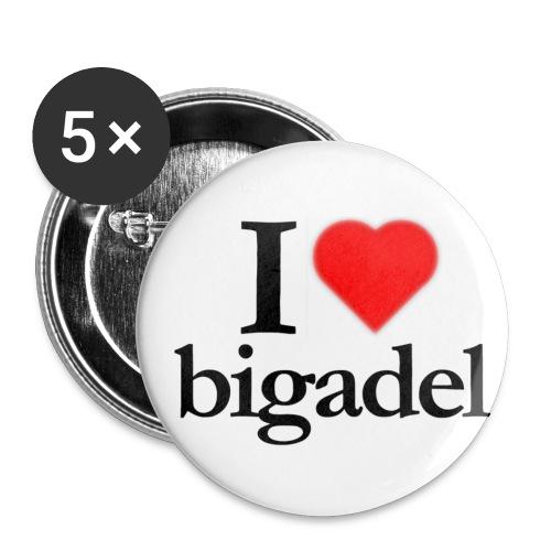 Spilla I love Bigadel - Confezione da 5 spille piccole (25 mm)