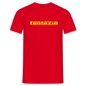Fantazia Logo (Yellow) - Men's T-Shirt