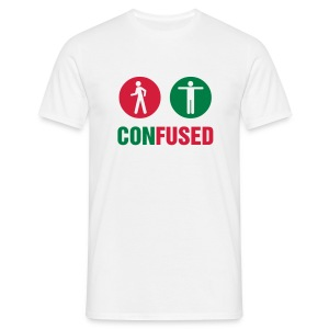Confused - Mannen T-shirt