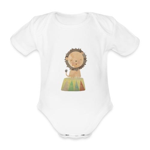 Zirkus-Löwe - Baby Bio-Kurzarm-Body