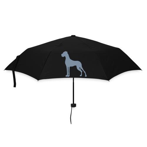 Schirm in vielen Farben - Motiv in silber-metallic - Regenschirm (klein)