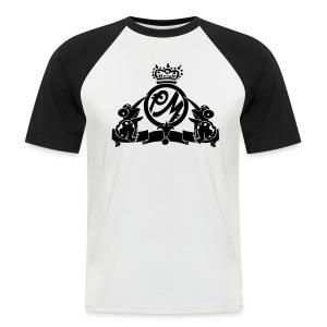 Puppetmastaz Emblem Baseball_White/Black - Men's Baseball T-Shirt