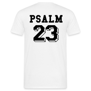 Psalm 23 (on back) - Men's T-Shirt
