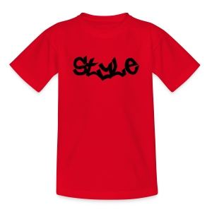 telement (Style) Kids T-Shirt (Red) - Teenage T-shirt