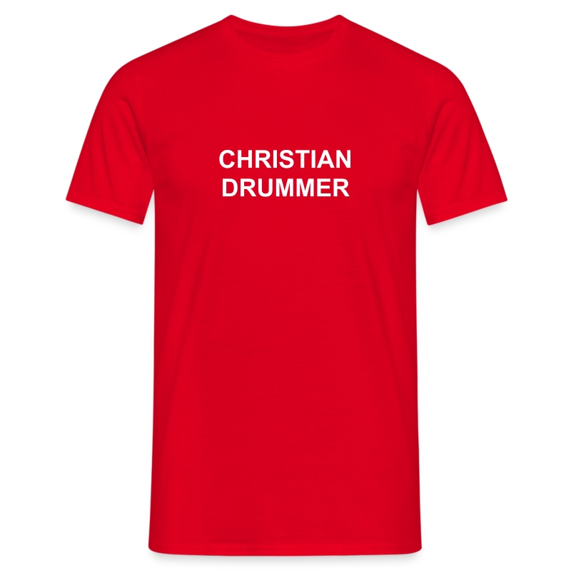 Christian drummer - Men's T-Shirt