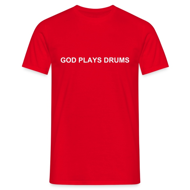 God plays drums