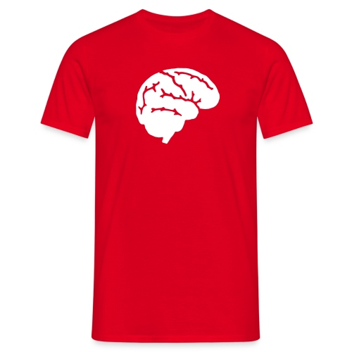 Brain - Red - Mannen T-shirt