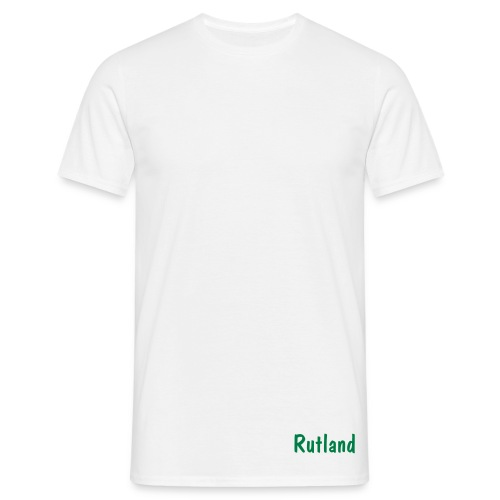 Rutland Front & Back Tee - White - Men's T-Shirt