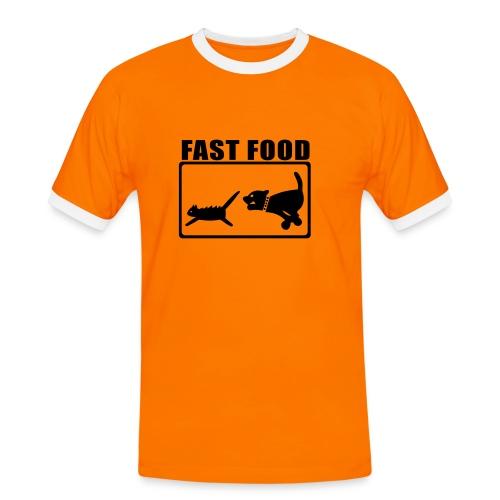 Comida rapida - Camiseta contraste hombre