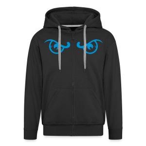 Occhi Blu - Felpa con zip Premium da uomo