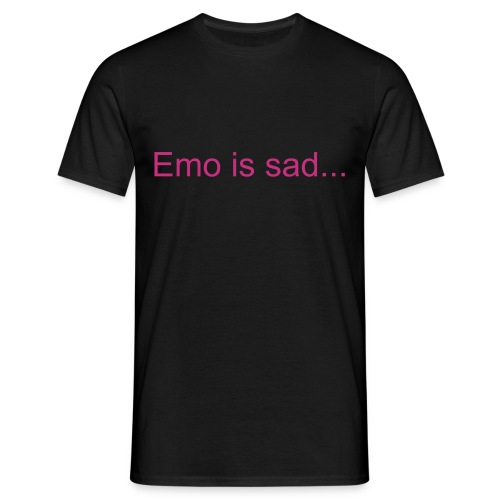 Emo is sad - Men's T-Shirt