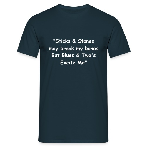 BLUES & TWOS (BLUE) - Men's T-Shirt