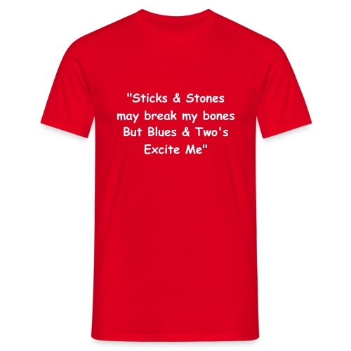 BLUES & TWOS (RED) - Men's T-Shirt