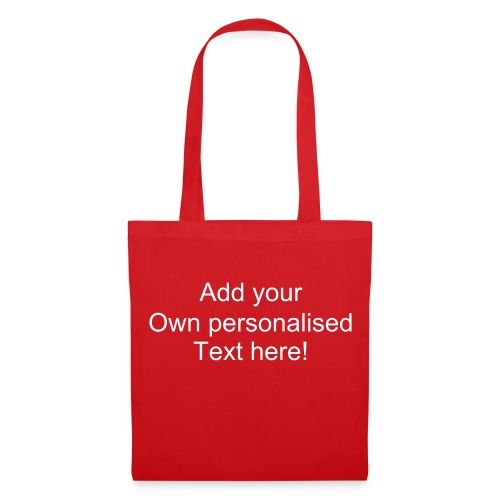 Red Bag with personalised text - Tote Bag