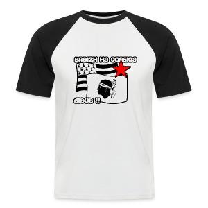 Breton et corse libres ! - T-shirt baseball manches courtes Homme