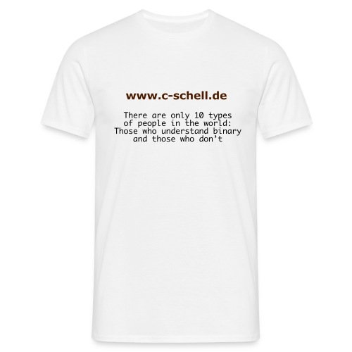 binary people - Männer T-Shirt