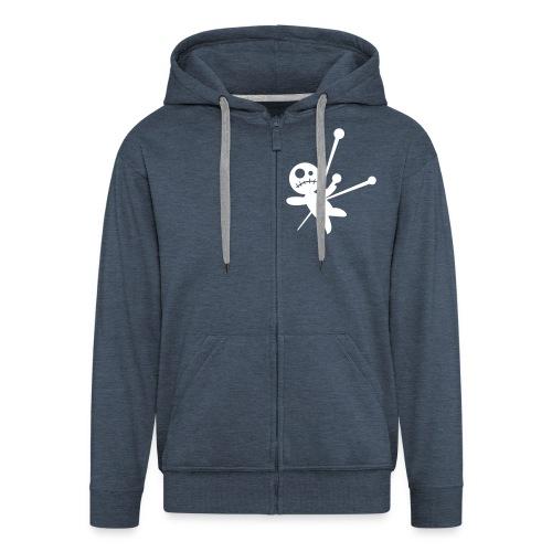 voodoo zipper - Men's Premium Hooded Jacket