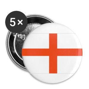 5x England badges - Buttons medium 32 mm