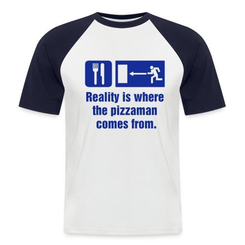 Pizza man tee - Men's Baseball T-Shirt