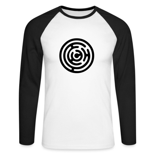 Baseball shirt black logo - Men's Long Sleeve Baseball T-Shirt