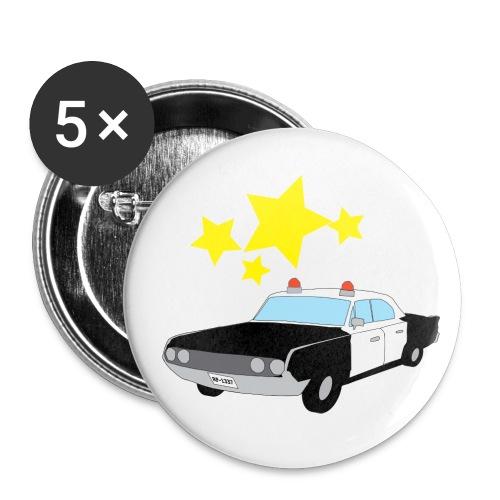 Polis Pin - Mellanstora knappar 32 mm (5-pack)