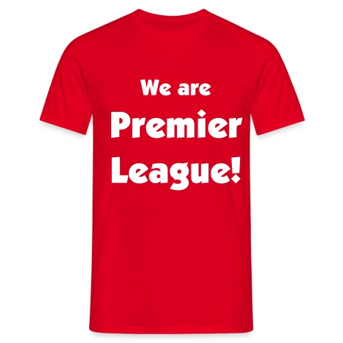 Premiership - Red - Men's T-Shirt