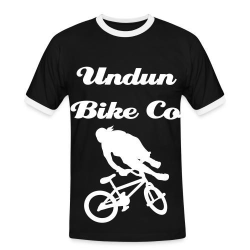 Black layerd double sided undun tee - Men's Ringer Shirt