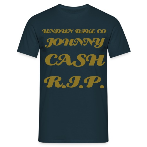 black johnny cash r.i.p. tee - Men's T-Shirt