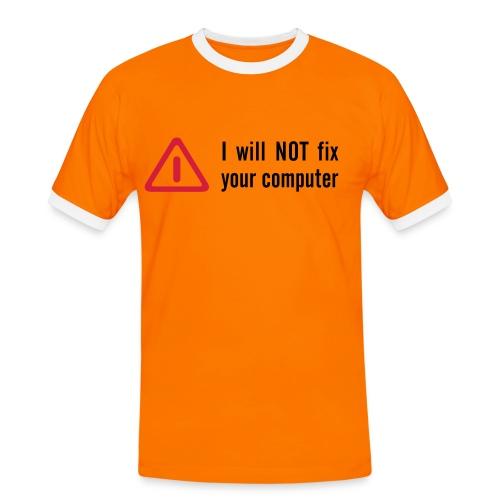 16 - Kontrast-T-skjorte for menn