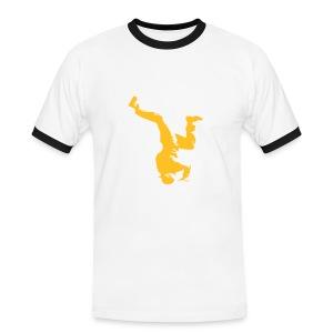 Mens Slim Contrast Tee bREAKdANCE - Mannen contrastshirt