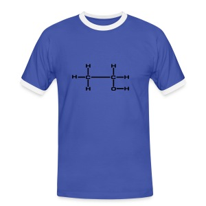 Alcoholaddict-Tee Blue - Mannen contrastshirt