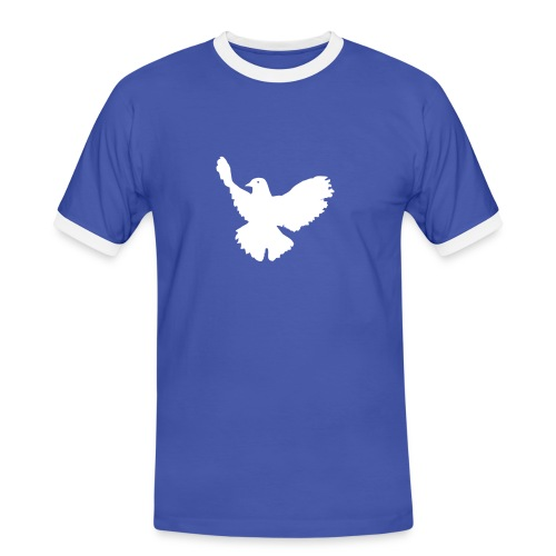 Friedenstaube - Männer Kontrast-T-Shirt