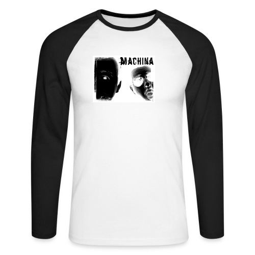 Men's Long Sleeve Baseball T-Shirt - machina t-shirt