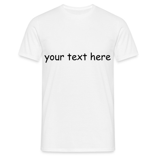 CREATE YOUR OWN T-SHIRT (MEN) - Men's T-Shirt