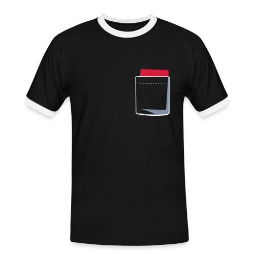Rote Karte Fußball - Männer Kontrast-T-Shirt