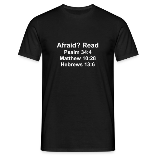 Afraid? Read - Men's T-Shirt