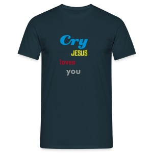 Cry, Jesus loves you tee - navy - Men's T-Shirt