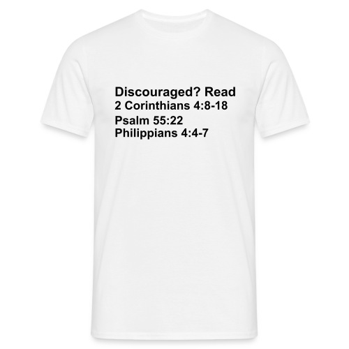 Discouraged? Read - Men's T-Shirt