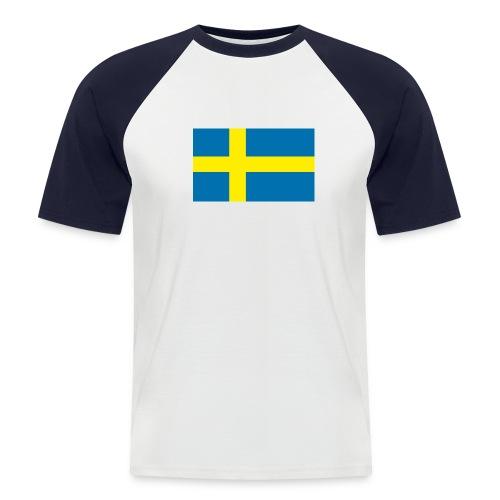 Schwedenflagge - Männer Baseball-T-Shirt